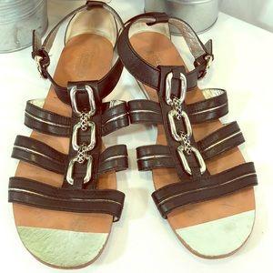 Coach Tesa Gladiator Style Leather Sandals